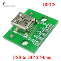 [10Pcs] Mini USB to DIP Adapter Converter for 2.54mm PCB Board DIY Power Supply