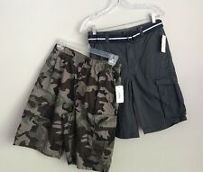 Boys Size 14/16 Cargo Shorts  Bundle Canyon River BluesGray Camouflage
