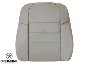 2005 2006 2007 Dodge Magnum-Driver Side Lean Back Leather Seat Cover Light Gray