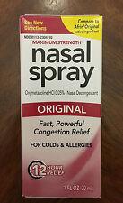 ORIGINAL 12 Hr NASAL RELIEF SPRAY -Nasal Decongestant compare