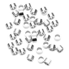 10x Stainless Steel Disc Beads Flat Loose Spacer Charms Large Hole 3x12mm