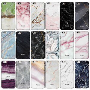Personalised Marble Case Cover for iPhone Models with Printed Name or Initials.