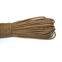 550 Paracord Parachute Cord Lanyard Mil Spec Type III 7 Strand Core 100 FT Brown