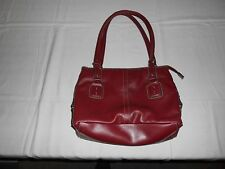 Red Leather Handbag Zipper Purse - Designer?