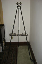 Longaberger Wrought Iron Bronze Leaf Standing Floor Display Easel NIB