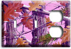 MOSSY TREE OAK LEAVES PINK CAMO CAMOUFLAGE LIGHT SWITCH OUTLET WALL PLATE COVER