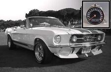 Vintage Mustang GT T-Bird Thunderbird Cougar Tachometer Photo Keychain Gift