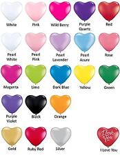 Heart Shape Balloon Party Supplies- 12cm Latex, 3 for $1 - HELIUM NOT SUITABLE