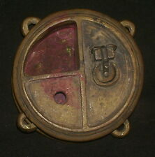 Antique Traditional Indian Ethnic Bronze ' Ink pot' Very Rare Collectible #5