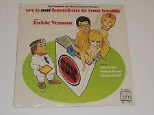JACKIE VERNON sex is not hazardous to your health Lp RECORD COMEDY TOM BOSLEY +