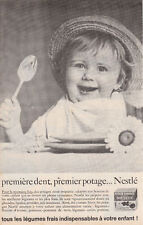 Publicité ancienne potage Nestlé 1963 issue de magazine