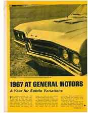1967 GENERAL MOTORS  ~  ORIGINAL 6-PAGE NEW CAR PREVIEW ARTICLE