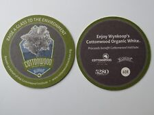 Beer Bar Coaster ~ WYNKOOP Cottonwood Organic White ~ Respect To the Environment