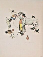 Norman Rockwell 1962 Horse Trader Lithograph AP