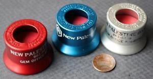 1960-70s Era New Palestine Indiana Bank 3-THREE metal-rubber bottle caps-SCARCE!