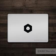 Cube - Mac Apple Logo Cover Laptop Vinyl Decal Sticker Macbook Unique Shape
