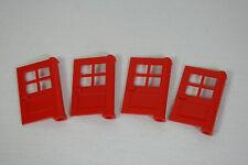 LEGO  4 rote Türen 1 x 4 x 5  Haus City (Z)