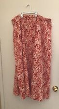 Women Jaclyn Smith Lightweight Cotton Orange/White Maxi Skirt.  XXL