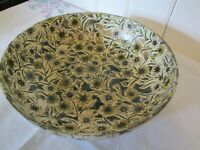 Vintage Paper Mache Bowl Flower Design Alcohol Proof Highmount Quality 9""