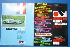 JOUETS  MONT BLANC : catalogue général 1969 / Matra 530 Jaguar type E  Ferrari..