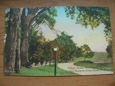 VINTAGE POSTCARD U.S.A.- VILLAGE GREEN MAIN STREET EAST HAMPTON - N.Y.  Ref 2123
