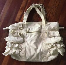 Juicy Couture Canvas Lined Large Women's Handbag, Tote, Beach Bag, Off-White