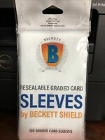 Beckett Shield Graded Card Sleeves 1 Pack of 100 for PSA, BGS, SGC Graded cards