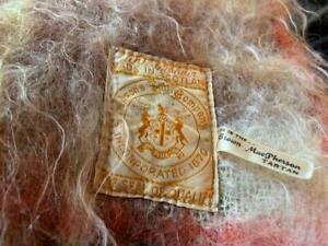 "Vintage Hudson's Bay Co. Brown Plaid Scottish Mohair Blanket, 66"" x 48"""