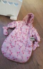 JACKY Baby Schneeanzug Babyschale Maxi Cosi Anzug rosa Blumen Mädchen Gr. 56