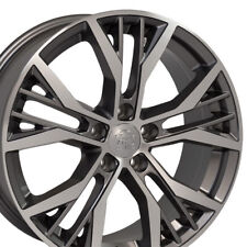 "4 Pcs 18"" Wheels For VW CC Tiguan 2009-2017 18X8.0 + 45 5X112 Machined Grey"
