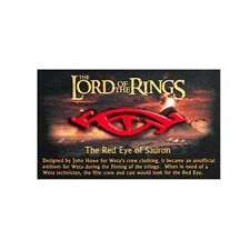 """Weta Workshop Lord of the Rings RED EYE OF SAURON 2.25"""" Collectable Pin"""
