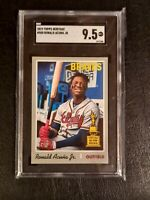 2019 Topps Heritage Ronald Acuna Jr. ROOKIE RC SP #500 sgc 9.5 GEM MINT psa comp