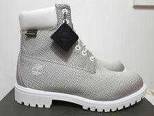 "TIMBERLAND BOOT PREMIUM 6 "" INCH DUPONT KEVLAR WHITE GREY 2015 SIZE 12 WIDE"