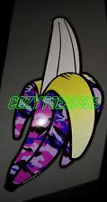 Reflective Camo Banana Pink / Purple  Car Bumper Sticker Jdm Dub Euro Chopped