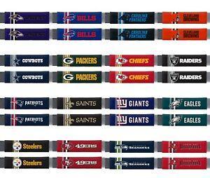 NFL Team Premium Rally Seat Belt Shoulder / Luggage Pad - Set of Two