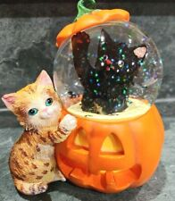 New ListingThe Bradford Exchange Kayomi Holiday Waterglobe Cat In A Pumpkin Lights up