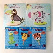 Kids Crafts Foam Kits Christmas Gift Elephant Toucan Frog Tiger Monkey Easy Fun