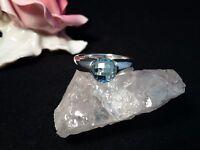 Edelsteinring Ring  Silber 925 mit Blautopas Größe 60 (19,1 mm Ø) Topas