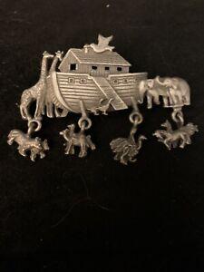 Vintage Noah's Ark Novelty Brooch