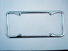 VINTAGE CHROME LICENSE PLATE FRAME w/SQUARE CORNERS FOR CALIFORNIA LICENSE PLATE