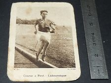 CHROMO PHOTO CHICOREE BELLE JARDINIERE 1935-1939 ATHLETISME JULES LADOUMEGUE