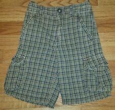 Baby Gap Brown Plaid Cargo Shorts Adjustable Waist  Boys Size 5T
