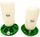 *COMBO* GREEN RITE FARM PRODUCTS QUART FEEDER & WATERER POULTRY CHICKEN CHICK