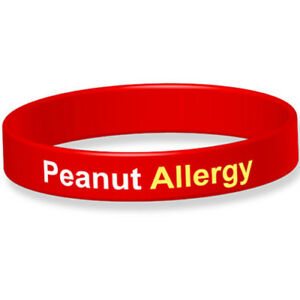 Alert Peanut Allergy Medical Alert Wristband