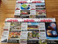 LOT 5 numéros MÄRKLIN Magazin 2005 - 2008 / Modélisme train