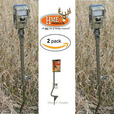 """2 Hme Trail Game Camera Holder Ground Mount Stake Pole Open Field 26""""-36"""" Tch-G"""