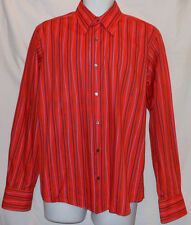 TED BAKER GORGEOUS BRIGHT COLORFUL STRIPED HIGH END DRESS SHIRT TBK7665