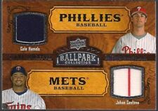 UD '08 BALLPARK COLLECTION DUO GAME USED JERSEY COLE HAMELS & JOHAN SANTANA #163