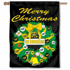 Wichita State Merry Christmas Wreath Decorative Holiday Wreath House Flag