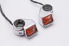 98 Harley Dyna FXDWG Front Turn Signal Flashers Fork Clamp Mount